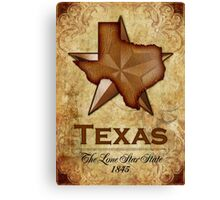 Texas Independence - The Lone Star State Canvas Print