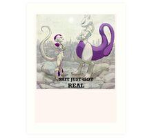 Mewtwo vs Freeza Art Print