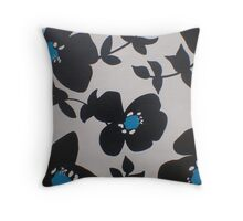Split Personality...Turquiose Throw Pillow