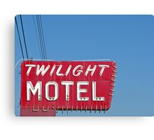 Twilight Motel Canvas Print