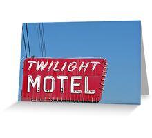 Twilight Motel Greeting Card