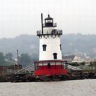 Tarrytown Lighthouse Closeup by Wanda  Mascari