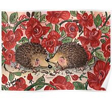 Hedgehogs Valentines Poster