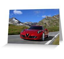 Alfa Romeo 4C Greeting Card