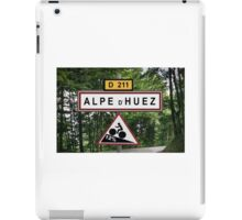 Alpe d'Huez Cycling Sign Tour de France Poster iPad Case/Skin