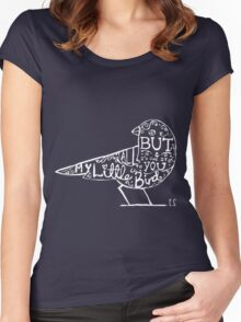 My Little Bird Typography Ed Women's Fitted Scoop T-Shirt