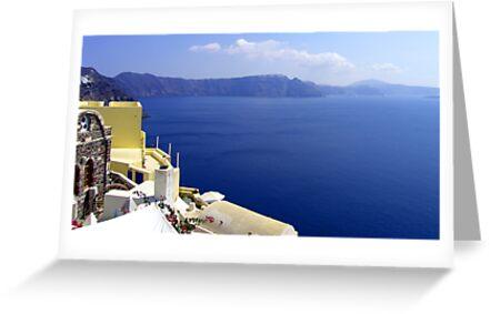 Santorini Caldera by Tom Gomez