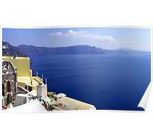 Santorini Caldera Poster