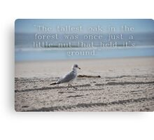 Inspiration Quote Canvas Print