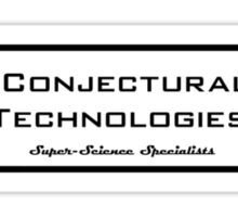Conjectural Technologies (black) Sticker