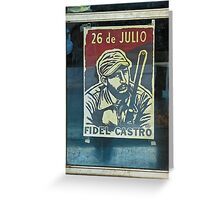 poster of Fidel Castro- Havana, Cuba Greeting Card