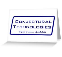 Conjectural Technologies (blue) Greeting Card