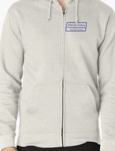 Conjectural Technologies (blue) Zipped Hoodie
