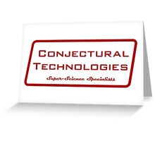 Conjectural Technologies (red) Greeting Card