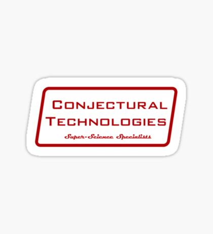 Conjectural Technologies (red) Sticker