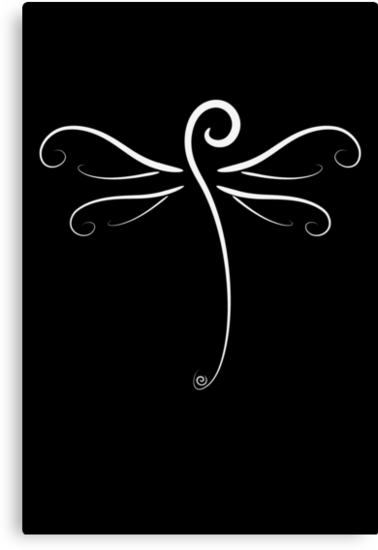 Swirly Dragonfly Tee (for dark Tee's) by Jacqueline Eden