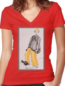 The Cowboy Women's Fitted V-Neck T-Shirt