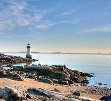 Harbor at Dawn - Salem, MA by Howard Simpson