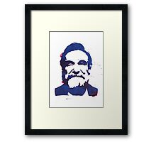 Robin Williams stencil Framed Print