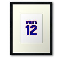 National baseball player Bill White jersey 12 Framed Print
