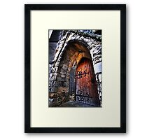 warm welcome in the house of god Framed Print