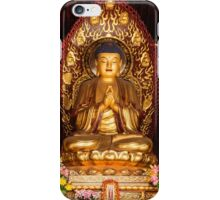 Buddha statue and relics at Giant Wild Goose Pagoda in Xi'an art photo print iPhone Case/Skin