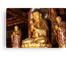 Buddha statue at Big Wild Goose Pagoda in China art photo print Canvas Print