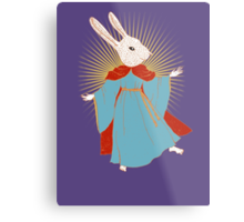 Saint Bunny has your back Metal Print
