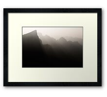 Foggy mountan landscape sunset nature scenery at Tianmen Zhangjiajie art photo print Framed Print