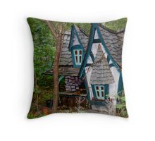 The Blue Faerie Dwelling Throw Pillow