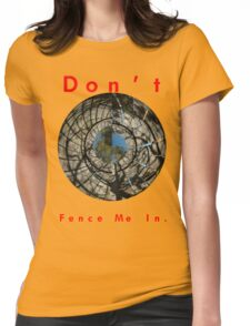 Don't Fence Me In. Womens Fitted T-Shirt