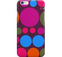 Retro Polka Dot Pattern #2 iPhone Case/Skin