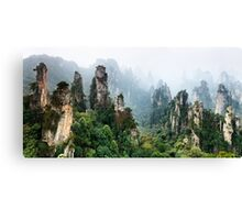 Mountains Zhangjiajie National Forest Park panoramic scenery art photo print Canvas Print