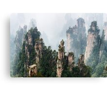 Zhangjiajie National Forest Park scenery art photo print Canvas Print