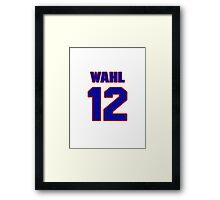 National baseball player Kermit Wahl jersey 12 Framed Print