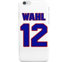 National baseball player Kermit Wahl jersey 12 iPhone Case/Skin