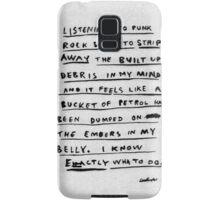 LISTENING TO PUNK ROCK Samsung Galaxy Case/Skin
