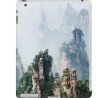 Mountain spires rising from fog at Zhangjiajie National Forest Park art photo print iPad Case/Skin