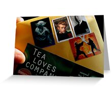 Tea Loves Company Greeting Card