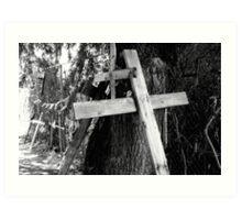 """""""Crosses at Chimayo"""" Art Print"""