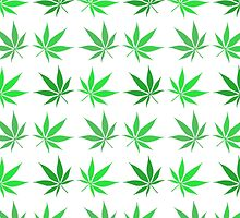 Tiled Cannabis Leaf Pattern by HighlyAnimated
