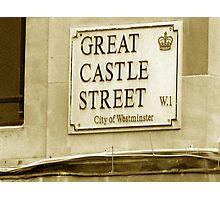 Great Castle Street W.1 Photographic Print