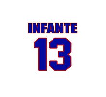 National baseball player Omar Infante jersey 13 Photographic Print