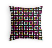 Retro Polka Dot Pattern #10 Throw Pillow