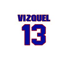 National baseball player Omar Vizquel jersey 13 Photographic Print