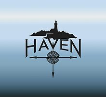 Haven Blue Background Logo by HavenDesign