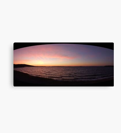 Winter Sunset on Whiteway Bay, Newfoundland Canvas Print
