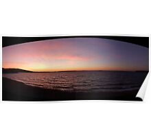 Winter Sunset on Whiteway Bay, Newfoundland Poster