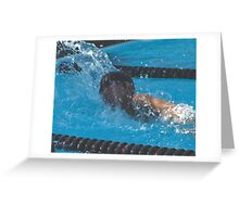 "Swimmer ""G Force"" Troy High School, Fullerton, CA 4-7-05  (146 Views 5-19-11) Greeting Card"