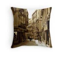 Winding Medieval Street Throw Pillow